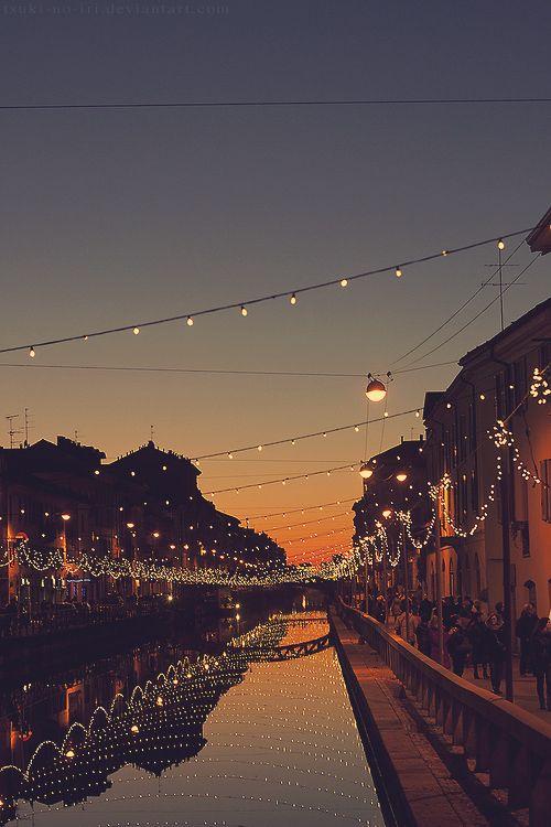 Milán de noche