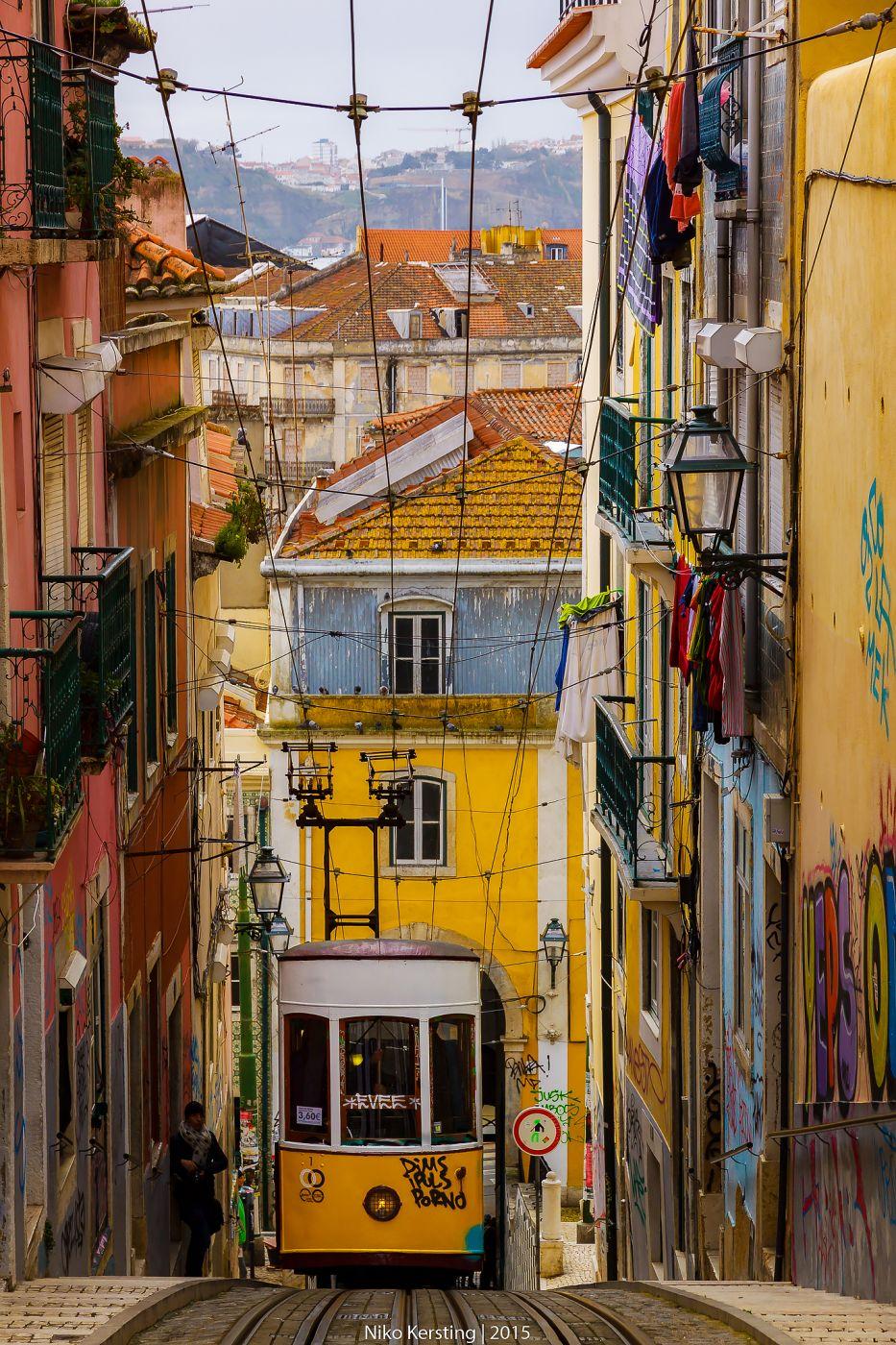 Pasea por las calles de Lisboa