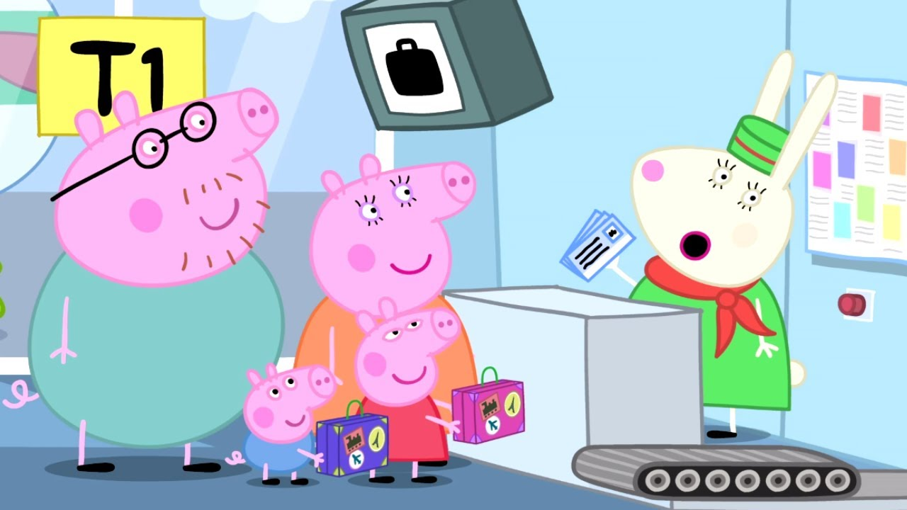 Fondos de pantalla de Peppa Pig con su familia