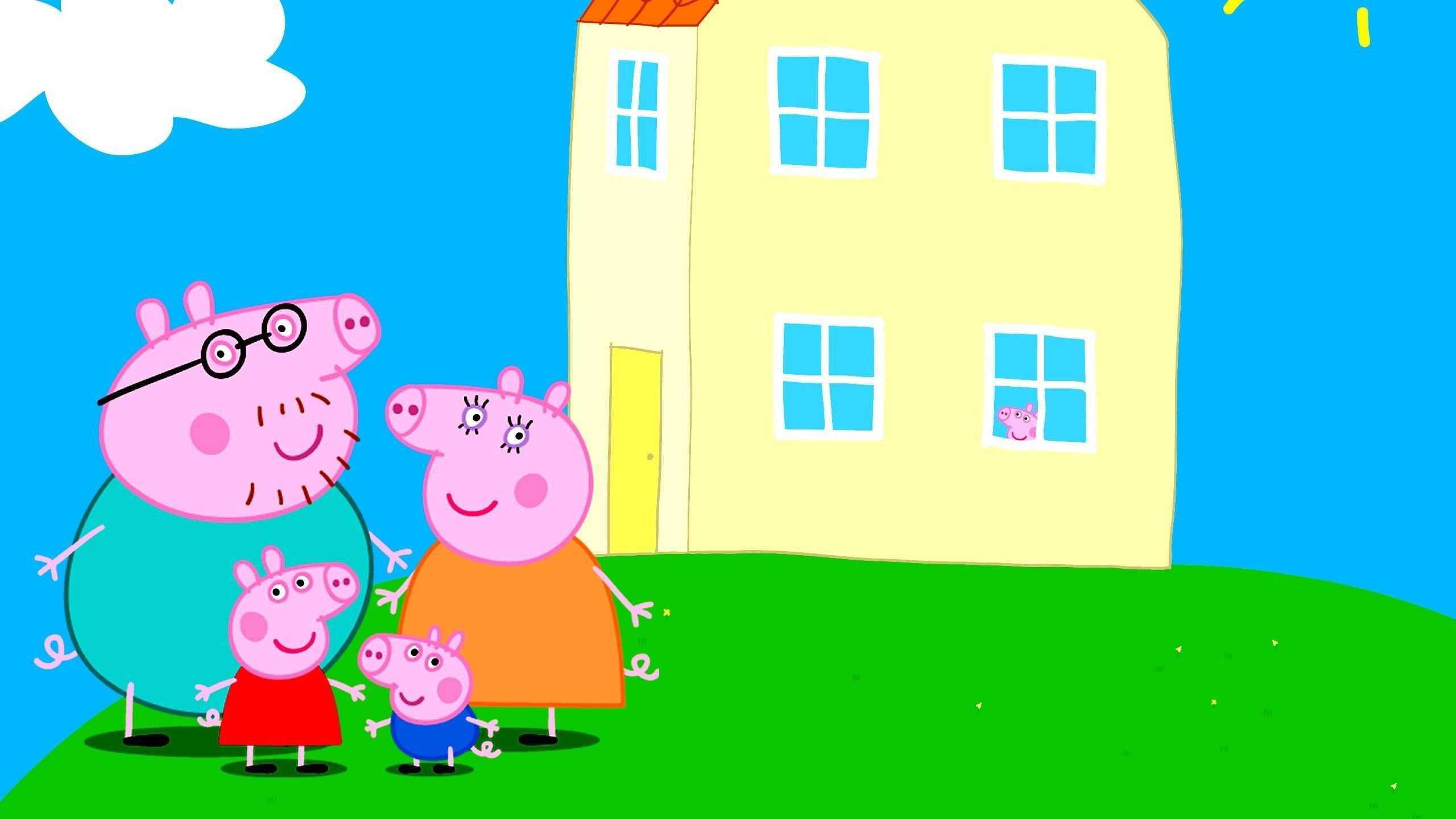 Fondos de pantalla de Peppa Pig en casa