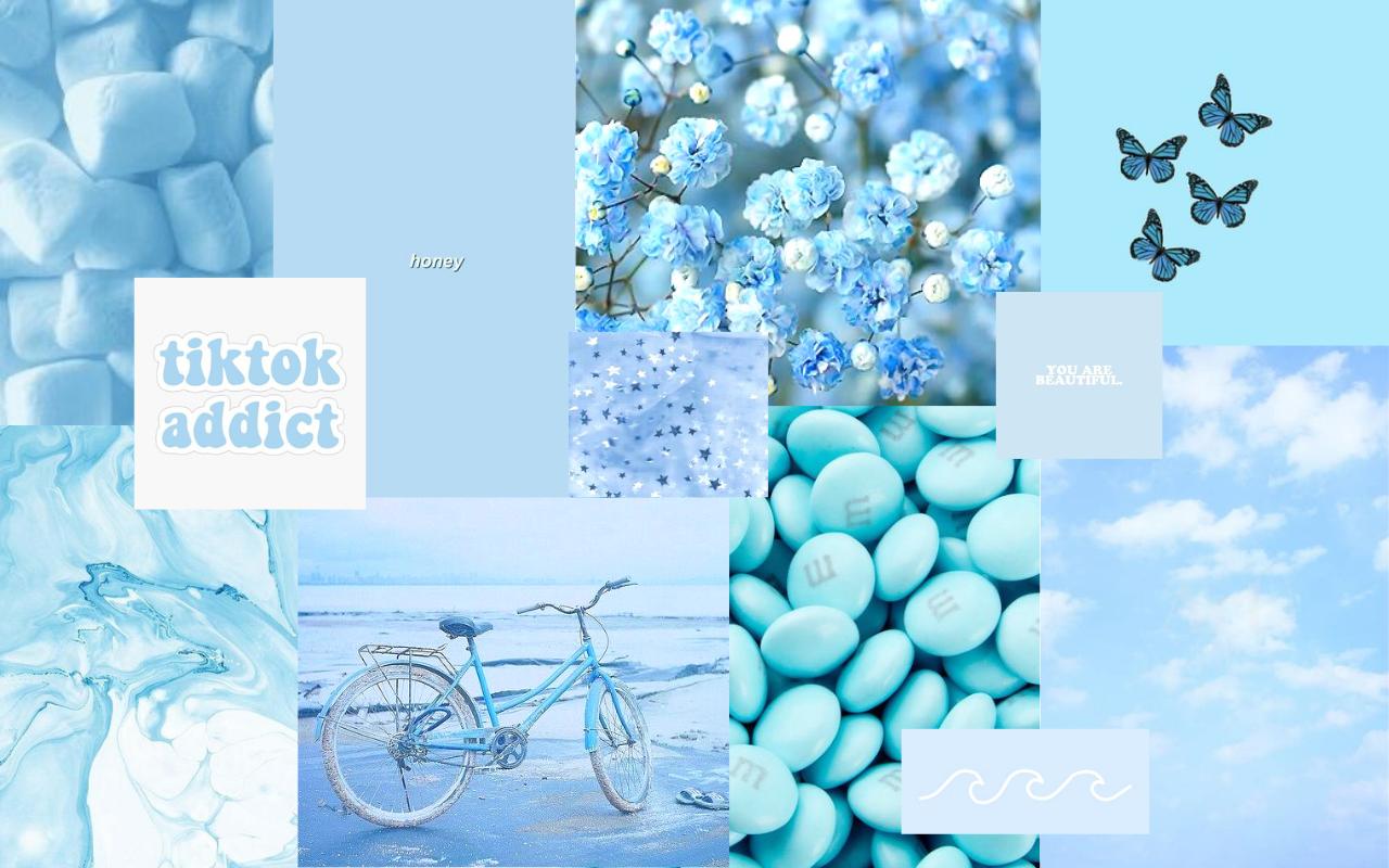 Fondos de pantalla azul pastel para PC
