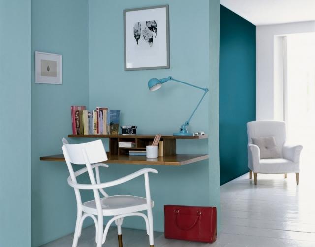 Azul pastel pared en hd